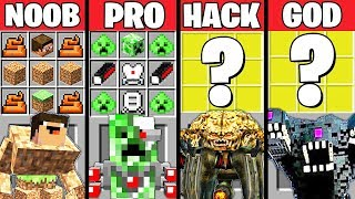 Minecraft Battle: SUPER BOSS CRAFTING CHALLENGE - NOOB vs PRO vs HACKER vs GOD ~ Minecraft Animation