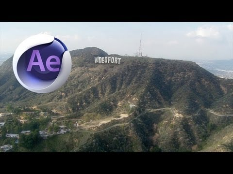 After Effects + Cinema 4D Hollywood Sign Tutorial