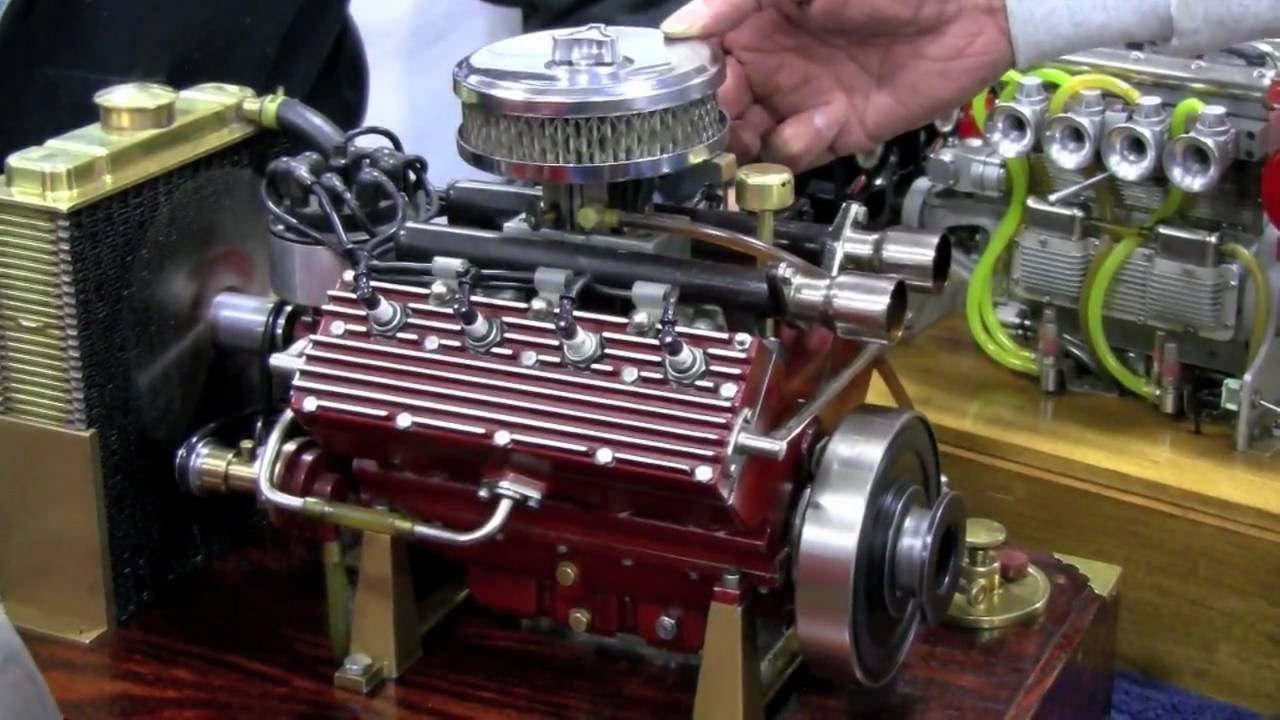 Video: Miniature flathead V8 rumbles like the real thing | Mac's