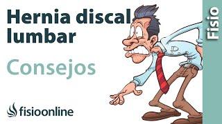 Hernia discal lumbar - Consejos para una mejor recuperación