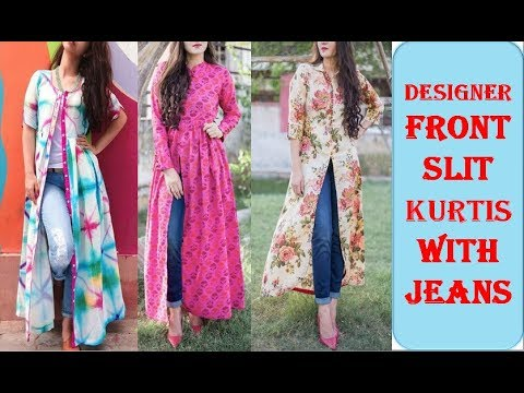 Beautiful Kurta Kurti Designs With Front Slit Kurtis With