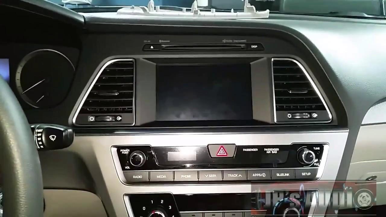 2017 Hyundai Sonata Radio Removal