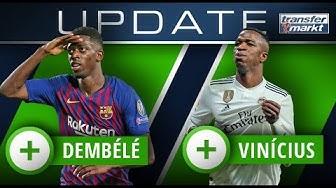 Marktwerte LaLiga: Dembélé überholt Coutinho – Vinícius zieht mit Sancho gleich | TRANSFERMARKT