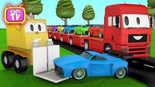 Learn Colors With Cars And truck- Education Cartoon For Baby – Video For Kids