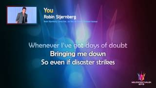 "Robin Stjernberg ""You"" -- (On screen Lyrics)"