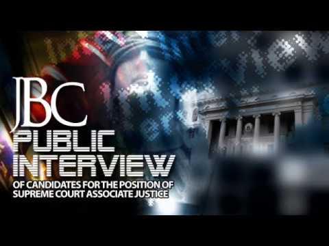 JBC Public Interview for Associate Justice - AM