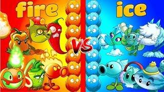 Plants vs Zombies 2 Gameplay Best Fire Plants vs Ice Plants Team vs Team Primal Fight PVZ 2 Video