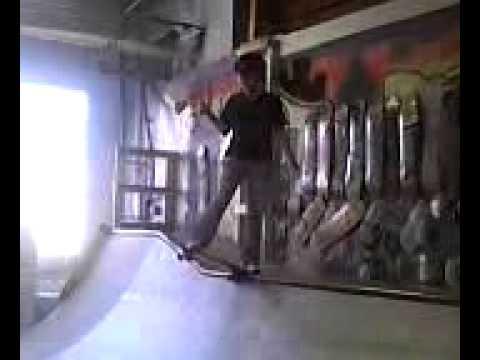 Tiffany skateboarding