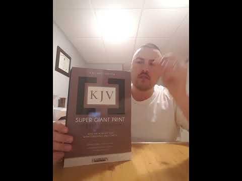 KJV Super Giant Print Bible review, provided by Hendrickson publishing