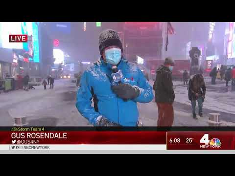 NYC's First Big Snow Storm in Years: See the Latest in Times Square | NBC New York