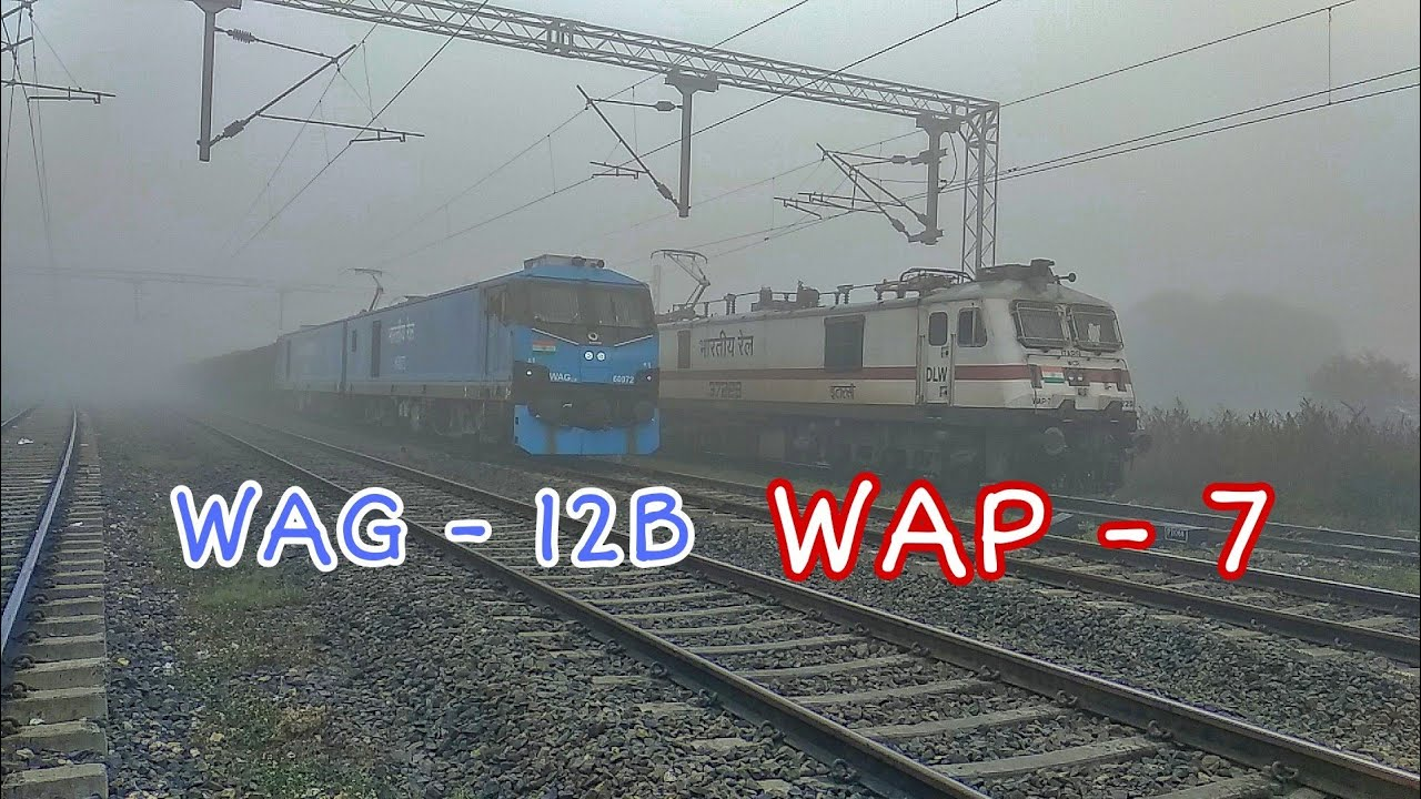 भारत का सबसे शक्तिशाली इंजन भी कोहरे के आगे बेबस , FOG STOPS WAG 12 MOST POWERFULL LOCO OF INDIA ,