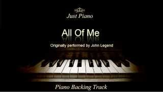Gambar cover All Of Me by John Legend (Piano Accompaniment)