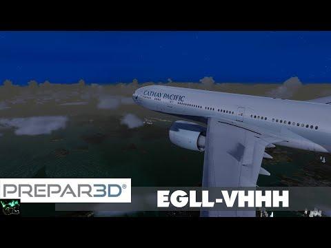 P3D #57 | CPA252: EGLL-VHHH | PMDG 777-300ER | Flug 15 Teil 3/4 | IVAO