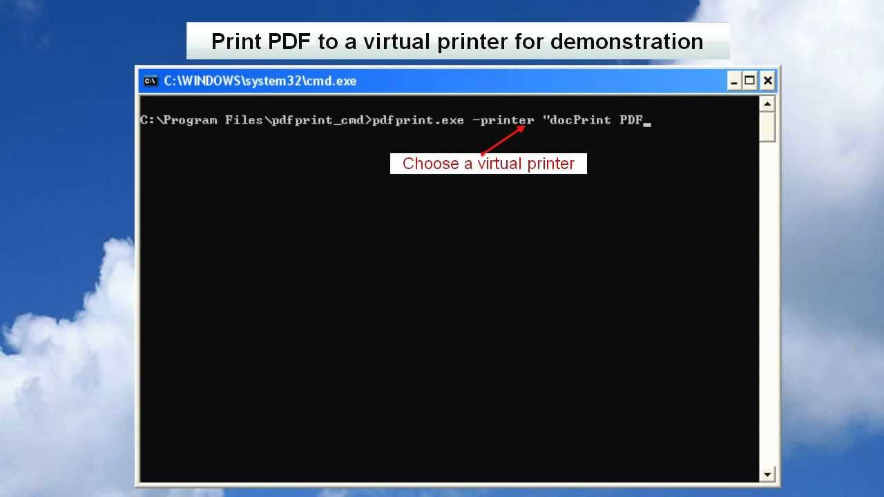 How to Use PDFPrint Command Line