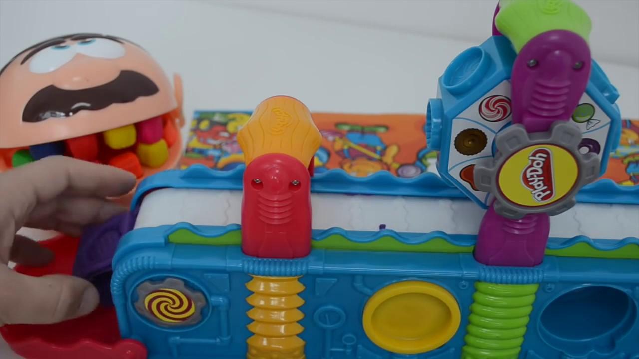 play doh dentist doctor drill charlie eating at mega fun. Black Bedroom Furniture Sets. Home Design Ideas