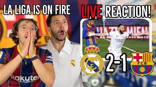 🚨Barcelona \u0026 Madrid fans REACT to EL CLASICO (Real Madrid 2-1 Barcelona) 2021