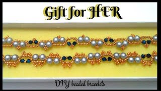 Gift for HER. Diy Christmas gift for someone that you love. Beaded bracelets