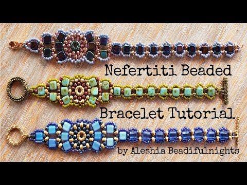 Nefertiti Beaded Bracelet Tutorial
