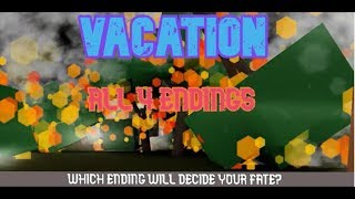 ROBLOX Vacation l All 4 Endings l