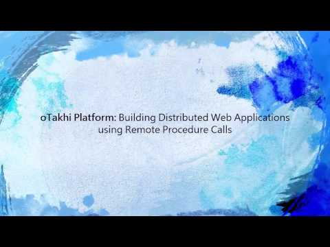 Building Distributed Web Applications using Remote Procedure Calls