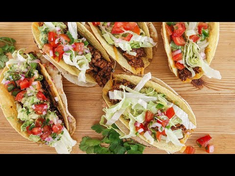 Rachael's Charred and Crunchy Beef 'n Chorizo Tacos