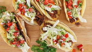 Rachael's Charred and Crunchy Beef 'n Chorizo Tacos