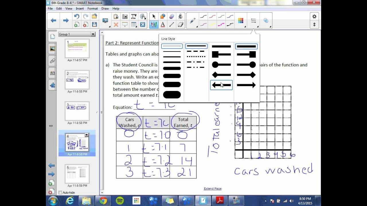 small resolution of 6th Grade 8-4: Multiple Representations of Functions - YouTube