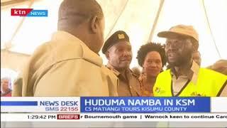 CS Matiangi has toured Kisumu for Huduma namba registration