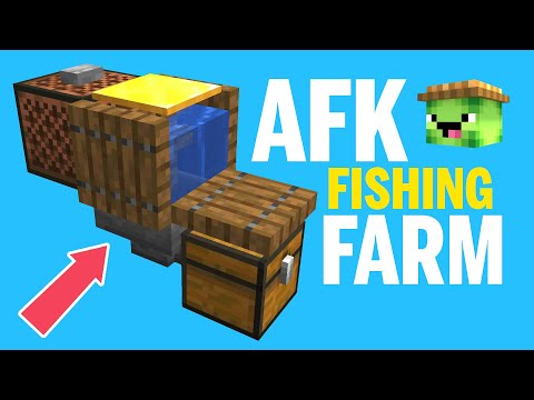 AFK Fishing Farm - Minecraft 1.14.4 Tutorial Easy & Compact - How To Tips & Tricks