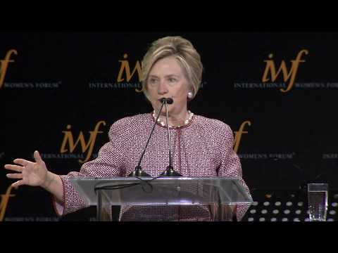 2017 International Women's Forum Hall of Fame - The Hon. Hillary Rodham Clinton