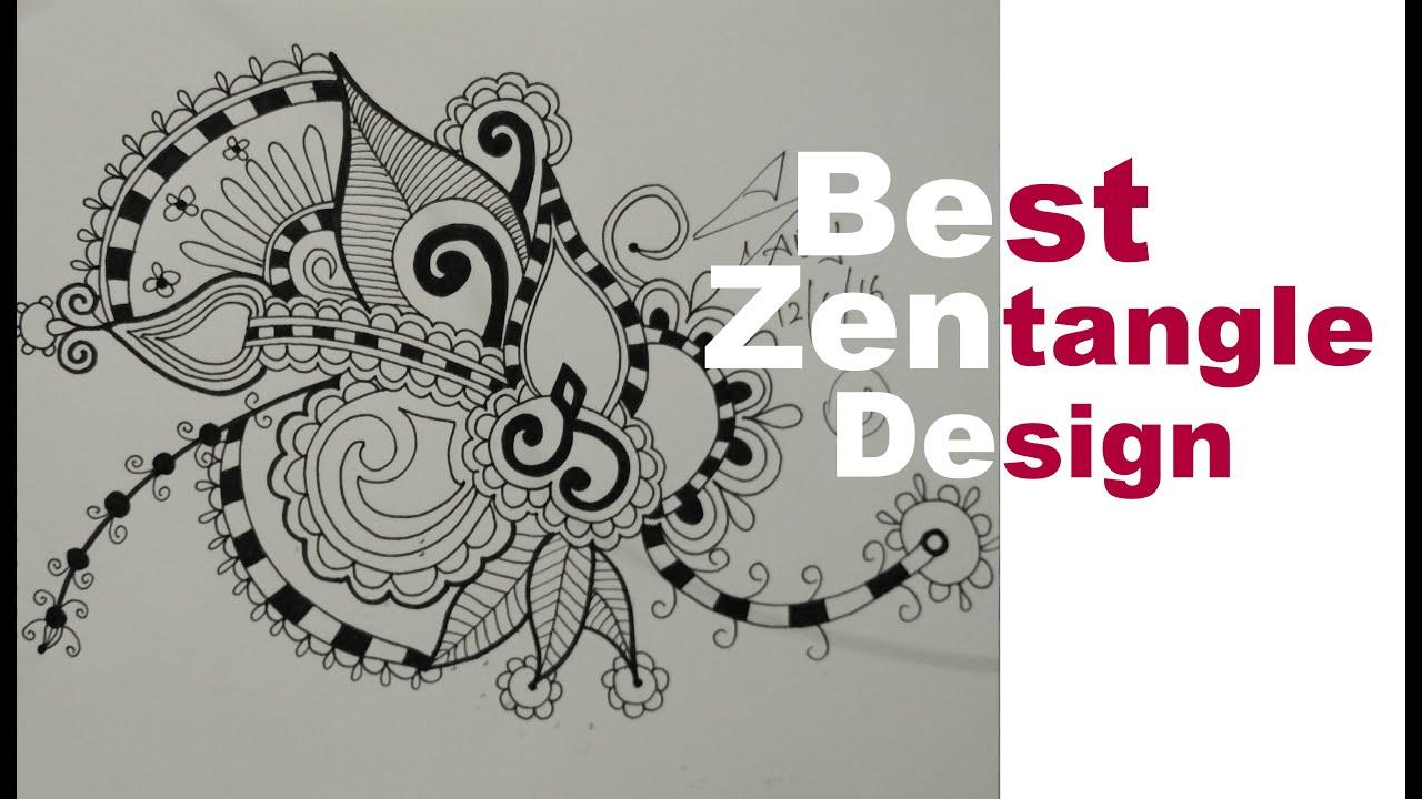How To Draw Best Zentangle Doodle Mandala Zendoodle Art Design Speed Tutorial Learn