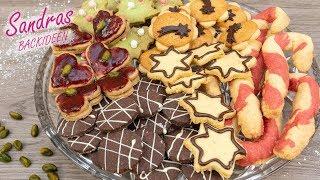 1 Teig 6 Plätzchen | Plätzchenteller Rezepte | Ausstechplätzchen | Weihnachtsplätzchen selbst machen