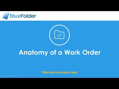 BlueFolder Anatomy of a Work Order