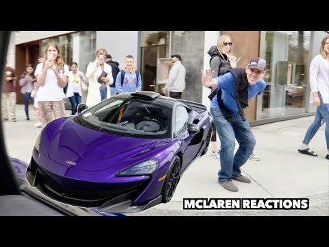 DRIVING A MCLAREN THROUGH BEVERLY HILLS *Funny Reactions*