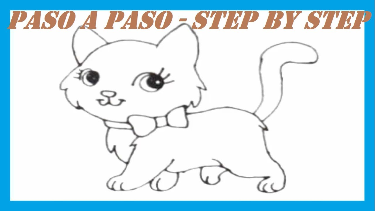 Como dibujar una Gatita l How to draw a Kitten  YouTube