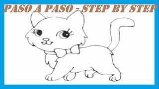 Como dibujar una Gatita l How to draw a Kitten