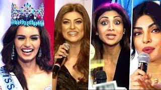 Bollywood Celebs AMAZING Reaction On Manushi Chillar WINNING Miss World 2017