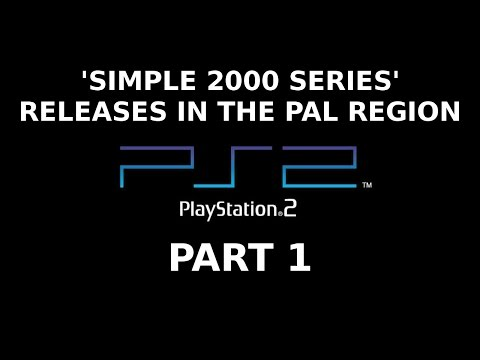 'Simple 2000 Series' Releases in the PAL Region --  Part 1