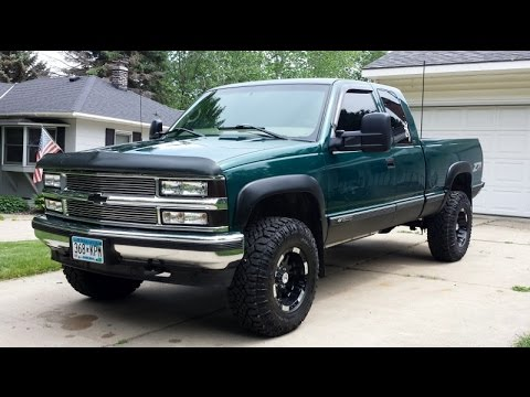 Lifted 1998 Chevy Silverado Truck Update New Rims Tires And Lift Kit