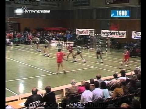 Andebol :: Winthertur - 27 x Sporting - 19 de 1988/1989 - Taça das Taças - 1ª Elim - 2ª Mão