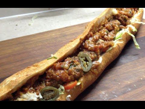 Make A Meatball Sub 2 Foot Long Like Subway Video Recipe Cheekyricho