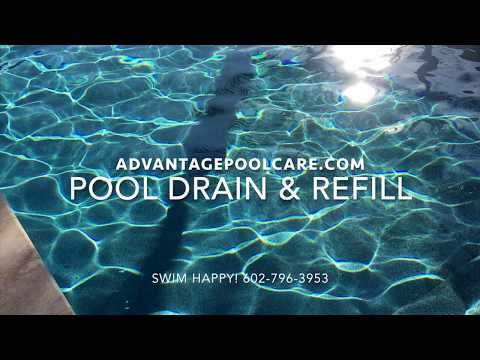 Draining My Pool - Advantage Pool Care Chandler Arizona