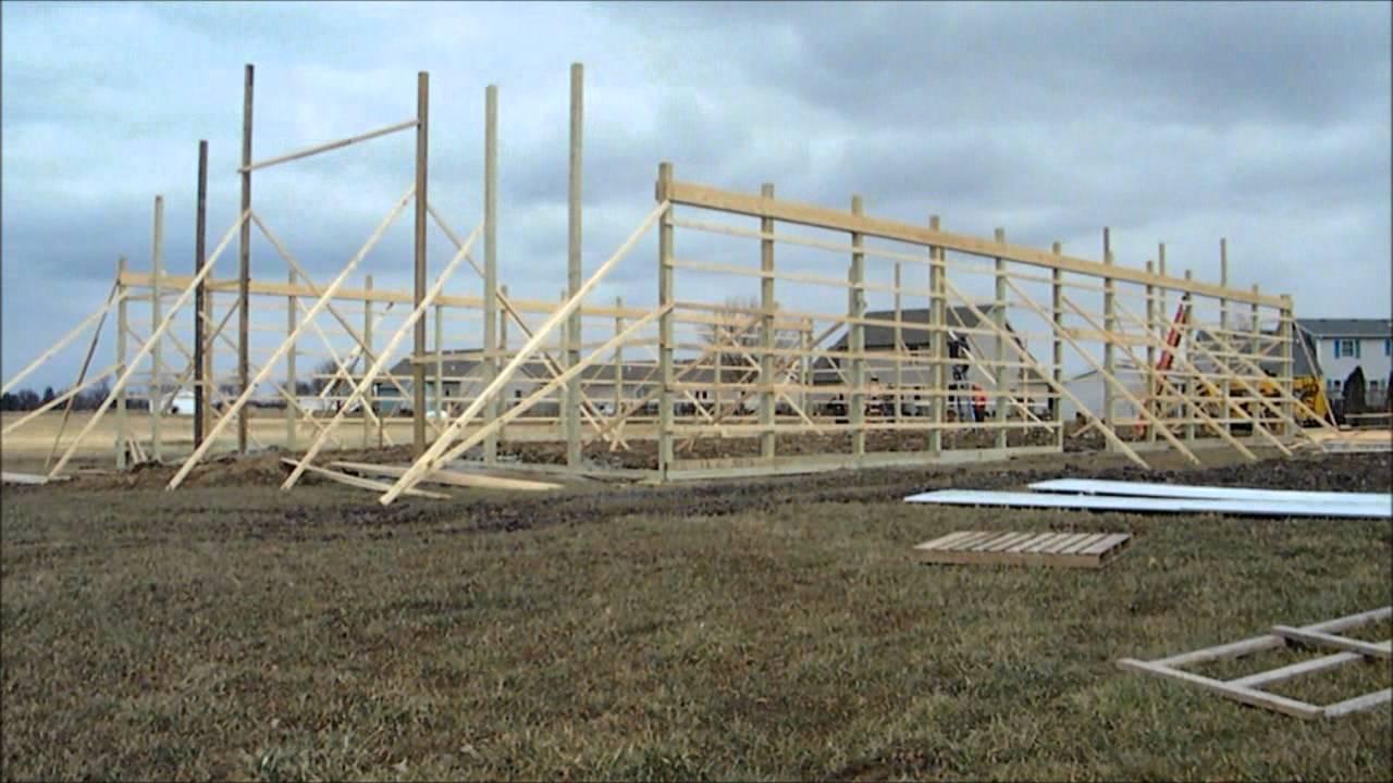 hight resolution of pole barn framing