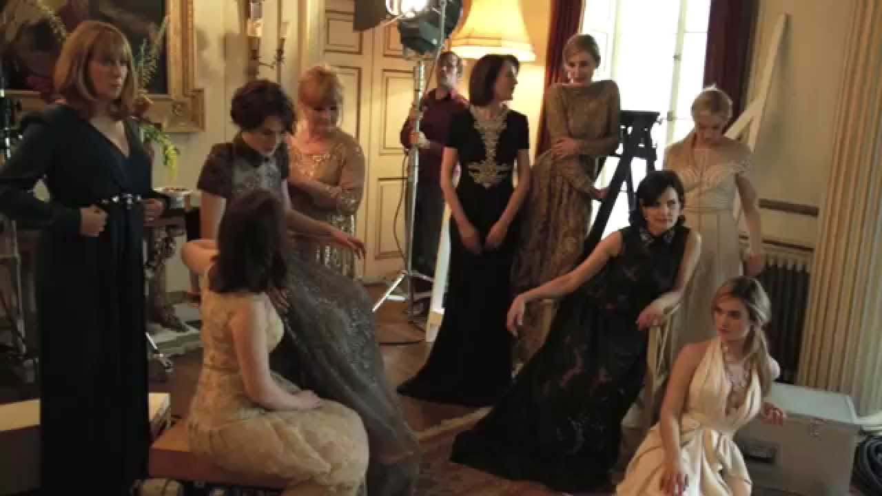 Downton abbey behind the scenes photos