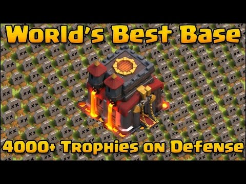 Clash of Clans - WORLD'S BEST BASE! | 4200+ Trophies! Must Watch! Base + Replays