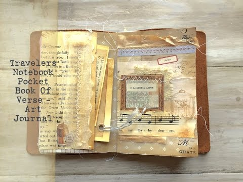 Travelers Notebook Art Journal // Pocket Book of Verse