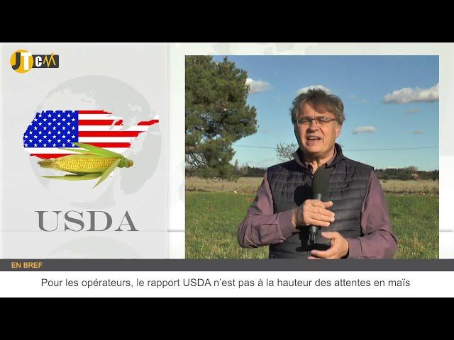 Le rapport USDA déçoit les opérateurs