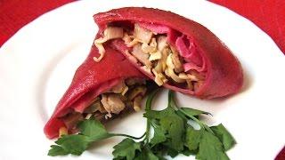 Рецепты закусок на праздничный стол - фаршированные блины с начинкой с ветчиной сыром и грибами