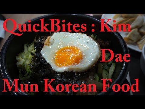QuickBites : Kim Dae Mun Korean Food. Authentic Korean Food at Food Court Prices. Affordable & Good.