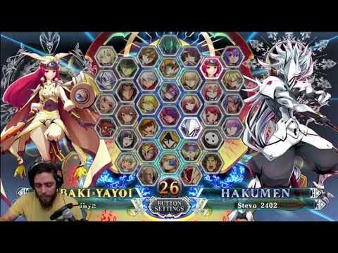 Blazblue Matches - Raidhyn (Tsubaki) vs. Stevo_2402 (Hakumen) - BBCF
